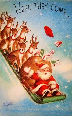 Santa and the gang