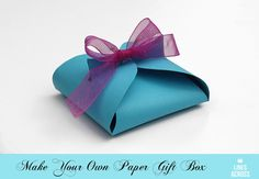 Mother's day gift box program? Make your own paper gift box (with a link to the free template).