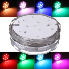 Contemplative 10led Rgb Led Underwater Light Pond Submersible Ip67 Waterproof Swimming Pool Light Battery Operated For Wedding Party Led Lamps Lights & Lighting