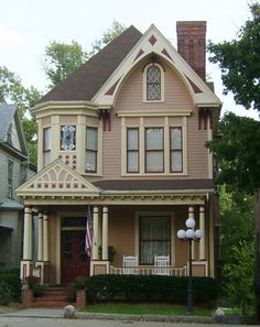 exterior victorian color palettes | ... is restored with authentic Victorian colors. Its twin sits next door