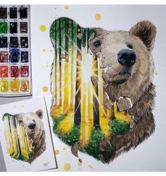 #mulpix  #Draw  #desenhos  #desenho  #desenhando  #art  #artista  #desenhista  #urso  #floresta  #pet  #lindo  #fofo  #amazing  #follow  #followme  #tattoo  #tatuagem  #drawing . . By ✅ @scandy_girl ✅ . Adm  @vandinho.c