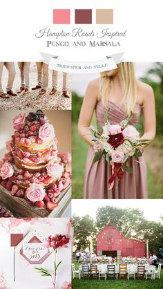 Spring Marsala Wedding Inspiration and Ideas