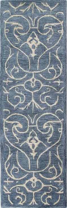 Norwalk Hand-Tufted Azure Area Rug