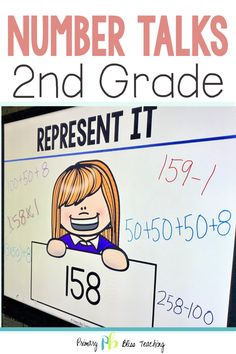 Your second grade students will absolutely LOVE these highly engaging math talk activities. They are common core aligned and so much fun for students! Grab your set today and watch as your students' number sense abilities soar to new heights! First Grade Lessons, Teaching First Grade, Second Grade Math, Math Lessons, Math Fact Practice, Math Talk, Math Fact Fluency, Number Talks, Framed Words