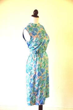 Vintage 1950s Pale Blue Floral Dress by RetroKittenVintage on Etsy, $25.00