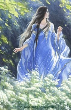 Lúthien Fantasy Paintings, Fantasy Art, Middle Earth Map, Elf Cosplay, Luthien, Tolkien Books, O Hobbit, Fairytale Art, Character Sketches