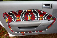Reupholster your car doors! This is such an easy DIY and looks so wonderful when finished! I think I might do it!