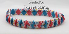 Another fun woven ribbon headband with a twist