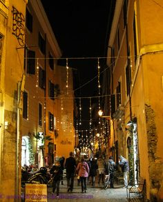 Eating in Italy: Twilight Trastevere food . Rome, province of Rome Lazio