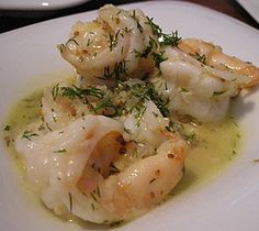 Garides me anitho - shrimp with dill recipe from Zaytinya!! yummers.