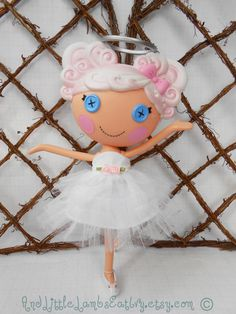 Lalaloopsy Clothes  White Ballerina  Dress by AndLittleLambsEatIvy, $14.00