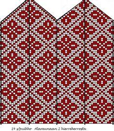 Knitted Mittens Pattern, Fair Isle Knitting Patterns, Knit Mittens, Knitting Charts, Mitten Gloves, Knitting Socks, Knitting Needles, Crochet Stitches, Knit Crochet