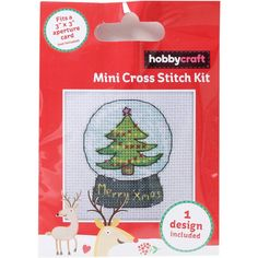 Snow Globe Mini Cross Stitch Kit | Hobbycraft