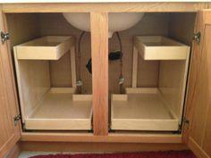 60 Trendy Kitchen Storage Cabinets Ideas Under Sink Kitchen Sink Storage, Diy Kitchen Shelves, Kitchen Pantry Cabinets, Kitchen Drawers, Diy Cabinets, Storage Cabinets, Bathroom Storage, Kitchen Ideas, Bathroom Cabinets