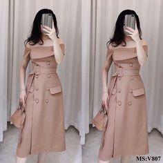 Ulzzang Fashion, Hijab Fashion, Fashion Dresses, Look Fashion, Girl Fashion, Womens Fashion, Fashion Design, Cute Dresses, Casual Dresses