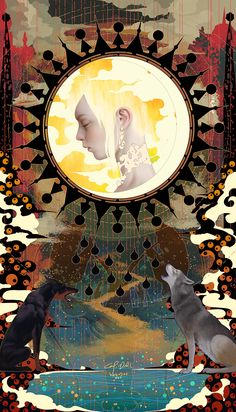 Tarot-Moon, Casimir Lee on ArtStation at https://www.artstation.com/artwork/6OPG6