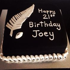 New Zealand all blacks birthday cake