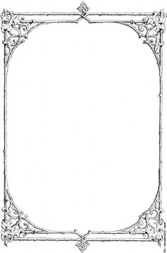 Corner Borders | Free clip-art: Victorian border of twigs and leaves [image…