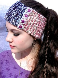 Purple and Pink Headband.  via Etsy.