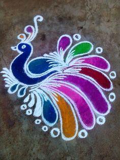 Rangoli making | Easy Craft Ideas