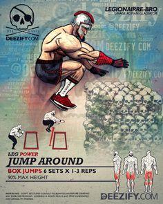 leg exercise: box jumps gladiator