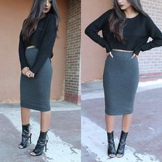 Date night outfit☻so cute♥ maybe different shoes with this outfit though. They're cute but not my cup of tea with this outfit.