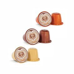 Nespresso® compatible coffee capsules - buy capsules online in bulk from Coffee capsules direct Flavoured Coffee, Nespresso Essenza, Caramel Cappuccino, Nespresso Lattissima, Chocolate Flavors, Toffee, Latte, Sticky Toffee, Candy