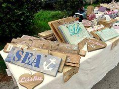 HaM / Drevené Ceduľky s nápisom - Wooden Tables with signs