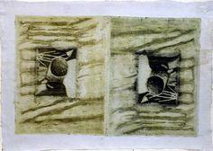 mezotinta, blank prints, 1996