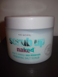 Scrub Up Naked Scrub- Natural Product  The Good  It is coarse! Yeah, lots of grainy bits of salt to rub into your skin!  This salt does not disintegrate.  It leaves skin lovely and smooth   It's animal friendly and natural  The Bad  The scrub leaves a waxy residue on the skin.  Overall I feel I am still looking out for a favourite body scrub, so will probably try something new next time.  Does anyone have a favourite body scrub they would recommend?