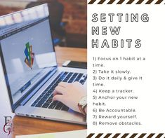Setting New Habits Is Never Easy But Does Wonders. Therefore our 8 step guide will help you along the way. Read more at www.ealiangroup.net Habit 1, This Is Us Quotes, Step Guide, Never, How To Remove, Easy