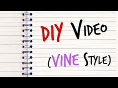 DIY Video (VINE Style) - #DIY #Comedy #Funny #Lol