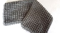 Crocheted Infinity Cowl Scarf Pewter with silvery by softtotouch, $32.00