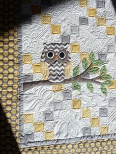 Cute Owl  - Sewing & Quilt Gallery: Baby Quilts heading home