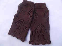 Fingerless Gloves Hand Knitted With Crochet Edging by AlfieJayne, €18.00
