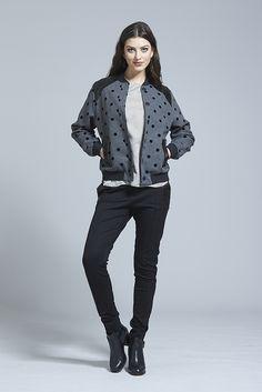 Little Rebel Bomber ⋆ Erina Emery Black Wool, Rebel, How To Look Better, Women Wear, Street Style, Winter, How To Wear, Clothes, Fashion