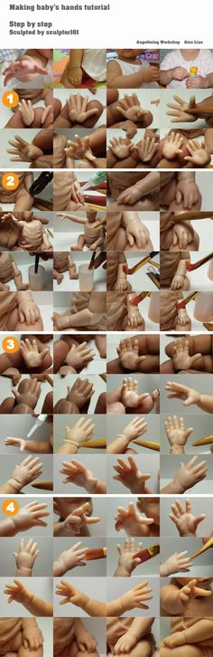 Making baby hands tutorial by sculptor101.deviantart.com on @DeviantArt