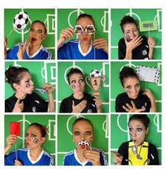 apoyos de la cabina de la foto de fútbol personalizado con