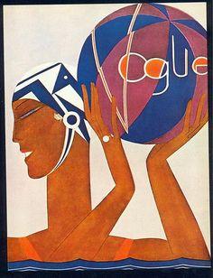 Benito, Vogue cover, 1927 www.varaldocosmetica.it/en : the olive skincare cosmetics Essenza di Riviera