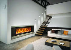 AXIS H1600XXL Australia's largest wood heater The Axis H1600XXL contemporary inbuilt wood heater takes the title for being Australia's largest inbuilt wood fireplace, with an unbelievable 1.7m glass viewing area. With flexibility to be used as an open fireplace or slow combustion wood heater, this designer statement is sure to be a focal point in any grand space. Featuring an exceptional hand-made French panoramic steel firebox with manually assembeled interlocking heavy duty fire bricks…