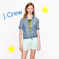 J.Crew Pleated Seersucker Short Just in time for summer! Crafted from lightweight seersucker with a clean side zip, this pleated short creates a crisp look no matter how hot it is outside.The slightly flared silhouette creates the illusion of a slimmer leg. J. Crew Pants