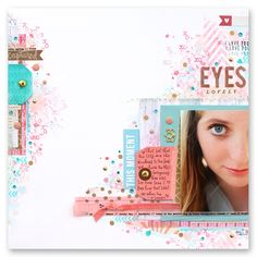 #papercraft #scrapbook #layout.  EYES (Camelot Kits) by suzyplant at @studio_calico