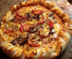 Handmade artesan pizza.