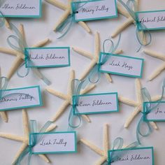 Hey, I found this really awesome Etsy listing at https://www.etsy.com/listing/234290021/starfish-escort-card-starfish-place-card