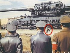 Schwerer Gustav- here we see Hitler and his generals as they inspect the…