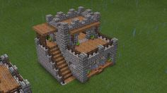 I like how they used the stairs for the spire things The top platform edge – go… - Minecraft World Minecraft Mods, Casa Medieval Minecraft, Minecraft Building Guide, Minecraft Castle, Minecraft Plans, Amazing Minecraft, Minecraft Survival, Minecraft Tutorial, Minecraft Blueprints