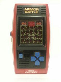 Mattel Electronics Armor Battle Vintage Handheld Video Game
