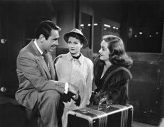 All About Eve - 1950 Real life husband and wife Gary Merrill and Bette Davis play Bill and Margo who are saying goodbye at the train station with Eve played by Anne Baxter looking on. Bette Davis, Gary Merrill, Luise Rainer, Anne Baxter, Jeanne Crain, All About Eve, Film Genres, Cinema, Oscar Winners