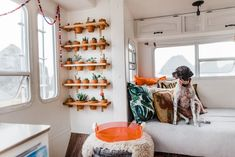 17 Cute RVs, Vans, Campers, Airstreams & More (Apartment Therapy Main) Rv Living, Tiny Living, Apartment Therapy, Good News, Tiny House Rentals, Shelf Inspiration, Small Tiny House, Plant Shelves, Remodeled Campers
