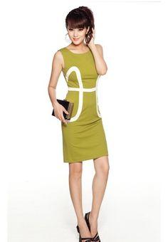 Body Line Dress in Green - $95.61 on @ClozetteCo